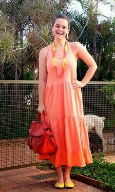 blog v@ LOOKS | por leila diniz: É NOVO E AINDA NÃO USEI (dia 9) com 2 novidades: sapatilha amarela + maxi colar coral e amarelo