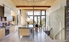 Sustainable homes tend to feature tons of natural light since its a great source of Vitamin D. Image Via: WA Design