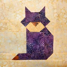 Cat Patches: A Week of Blocks Dog Quilts, Cute Quilts, Animal Quilts, Scrappy Quilts, Barn Quilts, Small Quilts, Cat Quilt Patterns, Quilt Square Patterns, Paper Piecing Patterns