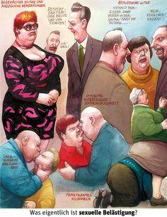 Karikatur von Manfred Deix: sexuelle Belästigung? | Was eigentlich ist sexuelle Belästigung?