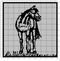 Two Filet Crochet Chair Set Patterns 1 Horses, 1 Ini (05/10/2001)