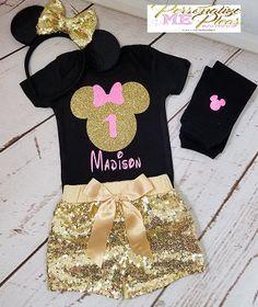 Traje de cumpleaños de Minnie Mouse niñas traje de