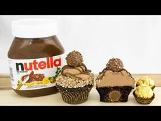 Ferrero Rocher & Nutella Cupcakes / check out these beautiful homemade cupcakes