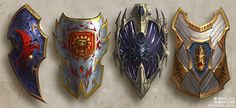 VK is the largest European social network with more than 100 million active users. Fantasy Armor, Fantasy Weapons, Medieval Fantasy, Medieval Shields, Cool Swords, Female Armor, Anime Weapons, Shield Design, Weapon Concept Art