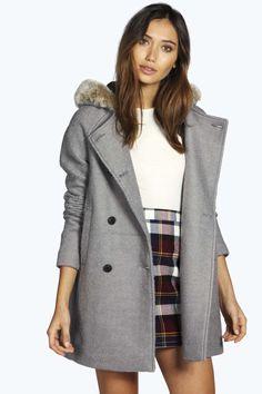 Rose Faux Fur Hood Coat