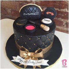 Mac Make Up Cake! Please stop by for our Walk in Tasting/Consultations today & tomorrow 702 Washington Avenue, Brooklyn. Make Up Torte, Make Up Cake, Let Them Eat Cake, Pretty Cakes, Cute Cakes, Beautiful Cakes, Amazing Cakes, Fondant Cakes, 18th Birthday Cake