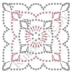 ::ArtManuais- Tecnicas de Artesanato | Moldes para Artesan Crochet Mandala Pattern, Crochet Motifs, Crochet Blocks, Granny Square Crochet Pattern, Crochet Diagram, Crochet Chart, Crochet Squares, Crochet Granny, Crochet Doilies