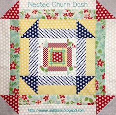 Nested Churn Dash Block from Want it Need it Quilt