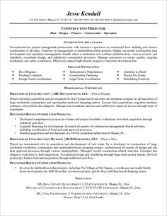 Construction Manager Example Resume ResumecompanionCom