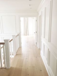 Staircase Hallway Millwork. Staircase Upstairs Hallway Millwork, paneled walls, waiscotting, walls #Staircase #Hallway #Millwork…