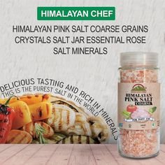 #HimalayanChef Himalayan Pink Coarse Grains #CrystalsSalt  Our 100% pure #HimalayanPinkSalt is the perfect addition to any meal!  #PinkCookingsalt will add all the natural minerals and nutrients locked in the perfectly structured salt crystals for a genuinely wholesome flavor.  #pinksalt #coarsesalt #coarsegrains #salt84 #salt84salt #himalayanchefcoarsesalt #Himalayancoarsesalt #wbm #wbmsalt #saltjar #glassjar #himalayanchefsaltjar