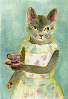 """""""Time for tea"""" - Illustration by Patricia Dempsey"""