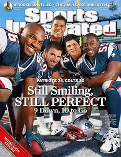 I remember when Vrabel, Bruschi, Seau, Colvin, and Thomas Sports Illustrated New England Patriots Defense New England Patriots Defense, New England Patriots Football, Patriots Fans, Football Love, Best Football Team, Football Fans, Football Players, Football Shirts, Patriots