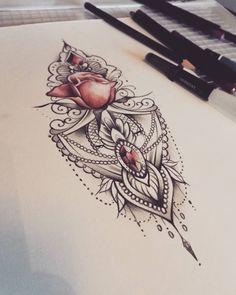 """247 Likes, 14 Comments - Sanni Voutilainen (@sanni_ink) on Instagram: """"Vapaa kuva #lacetattoo #rosetattoo #mandala #mandalatattoo #diamonds #soulskintattoo #turkutattoo"""""""