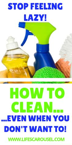 15 EASY Cleaning Motivation Hacks for the Lazy Cleaner - Don't want to clean, but know you should? These quick and easy motivation tips wil.