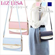 《LIZLISA》ティーお花リボンブローチ付バイカラーお財布ポシェット64340