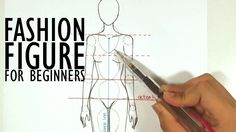 Beginners How to Draw a Fashion Croquis I watched this video so many times to attempt to perfect the Croquis. I want to be able to sketch out fashion designs and actually see them on paper as they should look. Great video for beginnig fashion designers!