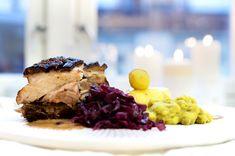 ribbe-med-rodkal-og-god-saus6 Steak, Christmas, Food, Ribe, Yule, Navidad, Xmas, Essen, Christmas Music