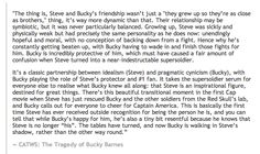 Okay.  Wow.  This person has a damn spot-on portrayal of Bucky and Steve--more than I would've probably been able to surmise by myself.  HelloTailor even addresses the misconception of Loki-Bucky parallels and briefly mentions the tragedy of the Loki-Thor, Bucky-Steve broship!  Wow, okay, just wow.