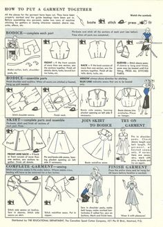 How to put a garment together. You should click this if you love sewing!