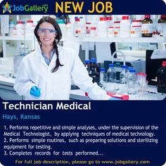 SEEKING A TECHNICIAN MEDICAL IN HAYS, KANSAS #Job #NewJob #Jobs #Trending #JobOpportunity  #jobgallery #healthcare #healthcarejobs #medicaljobs #KansasJobs #Hays #Kansas