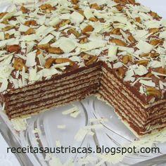 RECEITAS AUSTRÍACAS E ALEMÃS - DOCES: TORTA WAFFLE DE CHOCOLATE