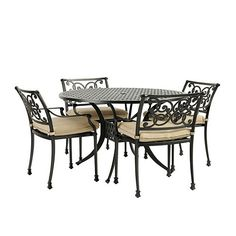 Amalfi 5-Piece Round Dining Set