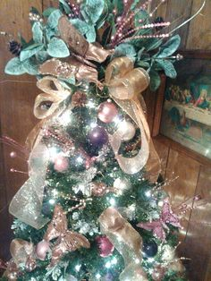 Christmas tree with butterflies