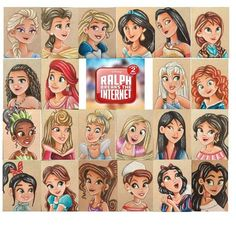 Ok here's an update every princess from , every Disney Princesses that should have been included, and every non Disney Princess that I love and feel should be added. Cute Disney Drawings, Disney Princess Drawings, Disney Princess Pictures, Disney Pictures, Princess Cartoon, Kawaii Disney, Disney Nerd, Disney Fan Art, Disney Love