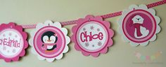 **Pink on Pink Penguins and Polar Bears Winter ONEderland: Word Banner USE for birthday, baby shower, celebration on Etsy, $20.00**