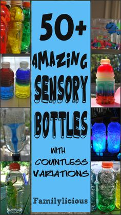 Science Discovery Bottles! The Big List!!! Over 50 Bottles| Familylicious