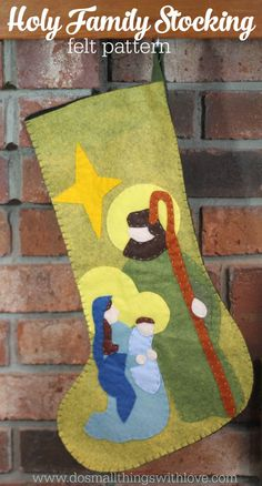 Holy Family Christmas Stocking Pattern