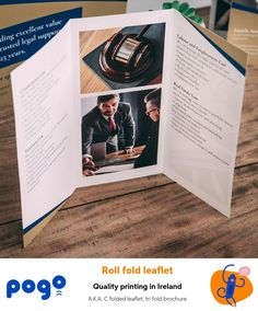 Roll folded leaflets are so versatile - product manual, menu, pricing list, event schedule. Organise your content into six panels, separated by two folds Leaflet Printing, Leaflets, A5, Schedule, Manual, Ireland, Rolls, Content, Type