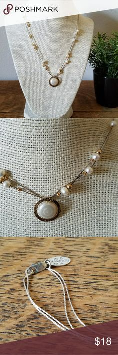Pearl necklace Beautiful freshwater pearl & 925 Silver necklace. Delicate gold accents. Jewelry Necklaces