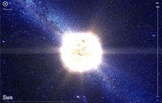 """Não satisfeito por mapear o planeta com o Maps, o Google criou o """"100,000 Stars"""", que mapeia 119.617 estrelas próximas ao nosso Sol. O projeto utiliza dados e imagens da NASA e da agência espacial europeia para criar uma passeio galáctico virtual pela Via Láctea - confira o endereço no Link Estadão."""