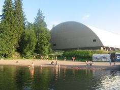 The beach of Laaksolahti (Espoo, Finland). Cities In Finland, Urban City, Places To See, Norway, Sweden, Island, Explore, Building, Beaches