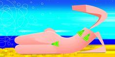 chica en la playa  #arte #artecontemporáneo #diseño #desing #art #ilustracion #artedigital #ilustration #RicardoCadet #hechoenVenezuela #madeinVenezuela