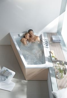 for Duravit: Bathroom Space Savers & Lux Tubs I don't need a man to snuggle with me in the tub, just a lot of hot, bubbly water.I don't need a man to snuggle with me in the tub, just a lot of hot, bubbly water. Modern Bathtub, Modern Bathroom, Small Bathroom, Bathroom Ideas, Bathroom Remodeling, Bathtub Ideas, Master Bathrooms, Jacuzzi Bathroom, Romantic Bathrooms