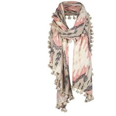 Ikat Scarf ($35) ❤ liked on Polyvore featuring accessories, scarves, sciarpe, pañuelos, women, patterned scarves, cotton scarves, allsaints, vintage shawl and vintage scarves