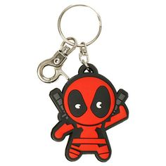 Marvel Deadpool Kawaii PVC Key Chain Hot Topic (€13) ❤ liked on Polyvore featuring accessories, superheros, jewelry, long key chains, ring key chain, fob key chain, keychain key ring and key chain rings
