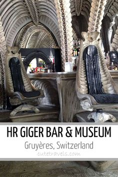 H.R. Giger Bar and Museum - Gruyères, Switzerland. Super creepy. Good cheese though.