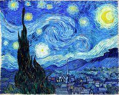 #VanGogh died 125 years ago, on July 29, 1890. Bugün Vincent Van Gogh'un 125. ölüm yıldönümü. işte en sevdiğim resimlerinden biri: The Starry Night