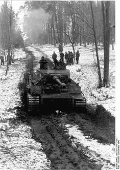 A German Tiger I in Russia, December 1943.