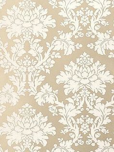 Schumacher Wallpaper Tierni Damask - Champagne  Priced by the single roll, 4.5 yards/roll.