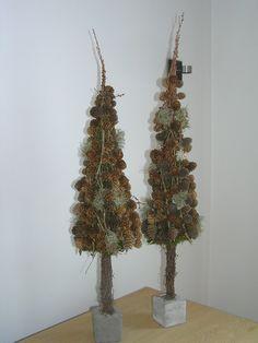 Juletræer af lærkegrene