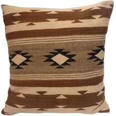 Early Navajo Indian Weaving Pillow found on Polyvore