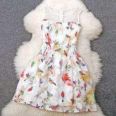 New Unique Embroidered Birds Temperament Princess Dress|Fashion Dresses - Clothing & Apparel- ByGoods.com