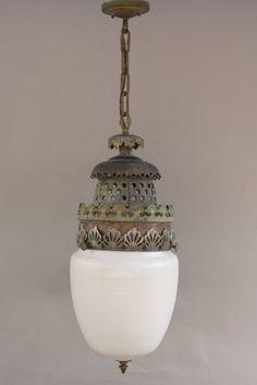 1920u0027s glass pendant with great moorish style fitter circa 1920u0027s pendant with original