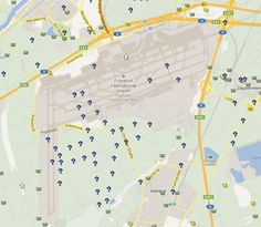 Awesome Geo-Art at the Frankfurt Airport in Germany! Find this series on http://www.geocaching.com.
