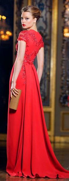 prom dress #red #gown #fashion #chic
